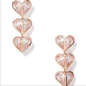 Kate Spade Pink Rock Stone Heart Earring